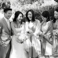 Beauty, Jewelry, Bridesmaids, Bridesmaids Dresses, Wedding Dresses, Fashion, white, dress, Makeup, Groom, Hair