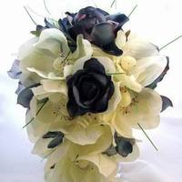 Ceremony, Flowers & Decor, blue, Ceremony Flowers, Flowers, Bridal, Bouquets, Silk, Debbiecoflowerscom