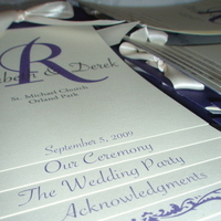 Ceremony, Flowers & Decor, Stationery, purple, Invitations, Monogram, Wedding, Steph, Program, K, Creations, Flipbook, Steph k creations