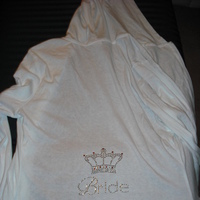 white, Bride, Hoodie