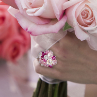 Flowers & Decor, Jewelry, Bridesmaids, Bridesmaids Dresses, Fashion, pink, Bridesmaid Bouquets, Gifts, Flowers, Rings, Crystal, Swarovski, Handmade, Flower Wedding Dresses