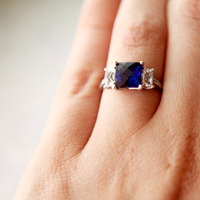 Jewelry, white, blue, silver, Engagement Rings, Ring, Engagement, Sapphire