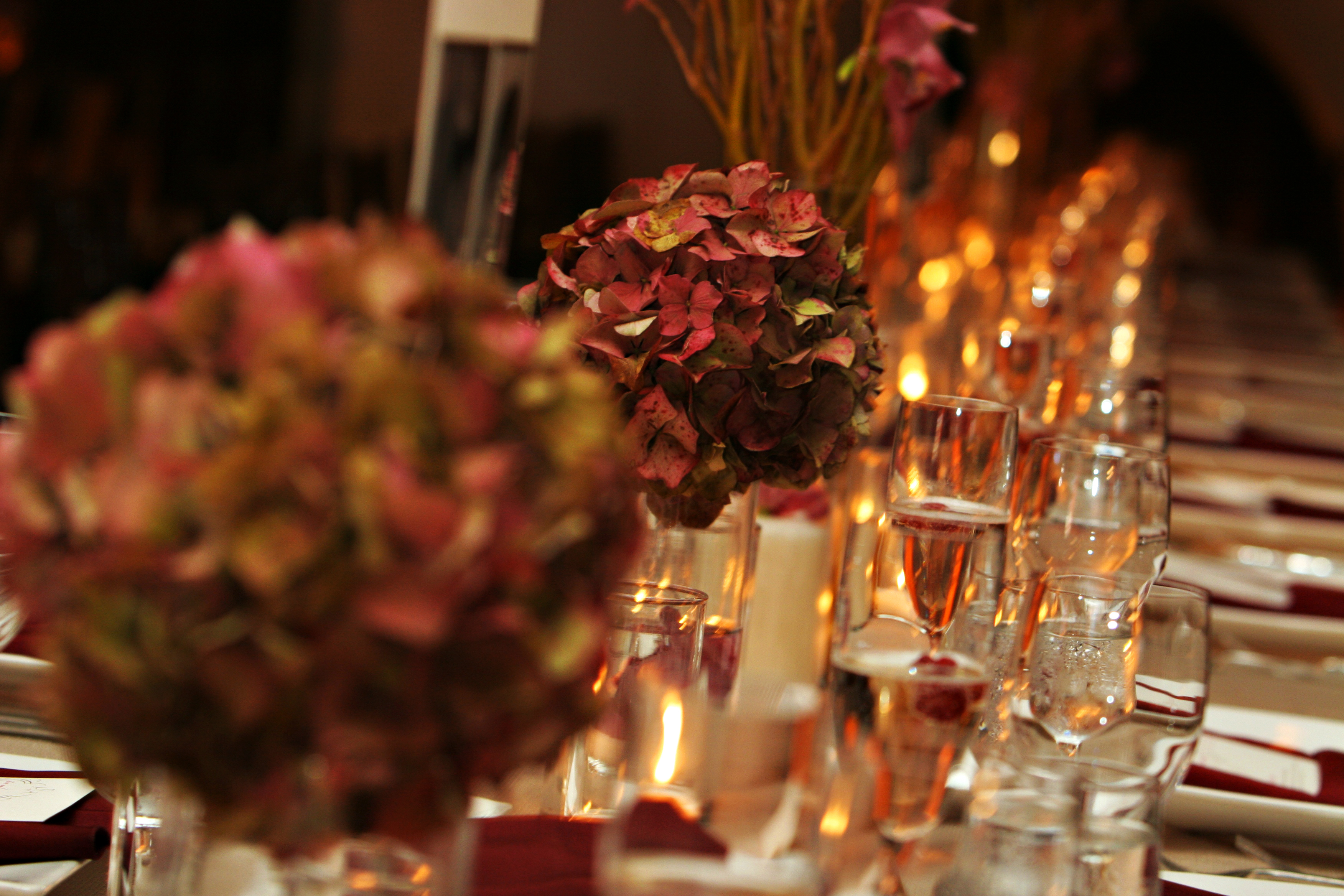 Reception, Flowers & Decor, Flowers, Table, Hydrangeas