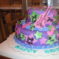 Cakes, pink, purple, green, cake, Dolled-up cakes by lissette
