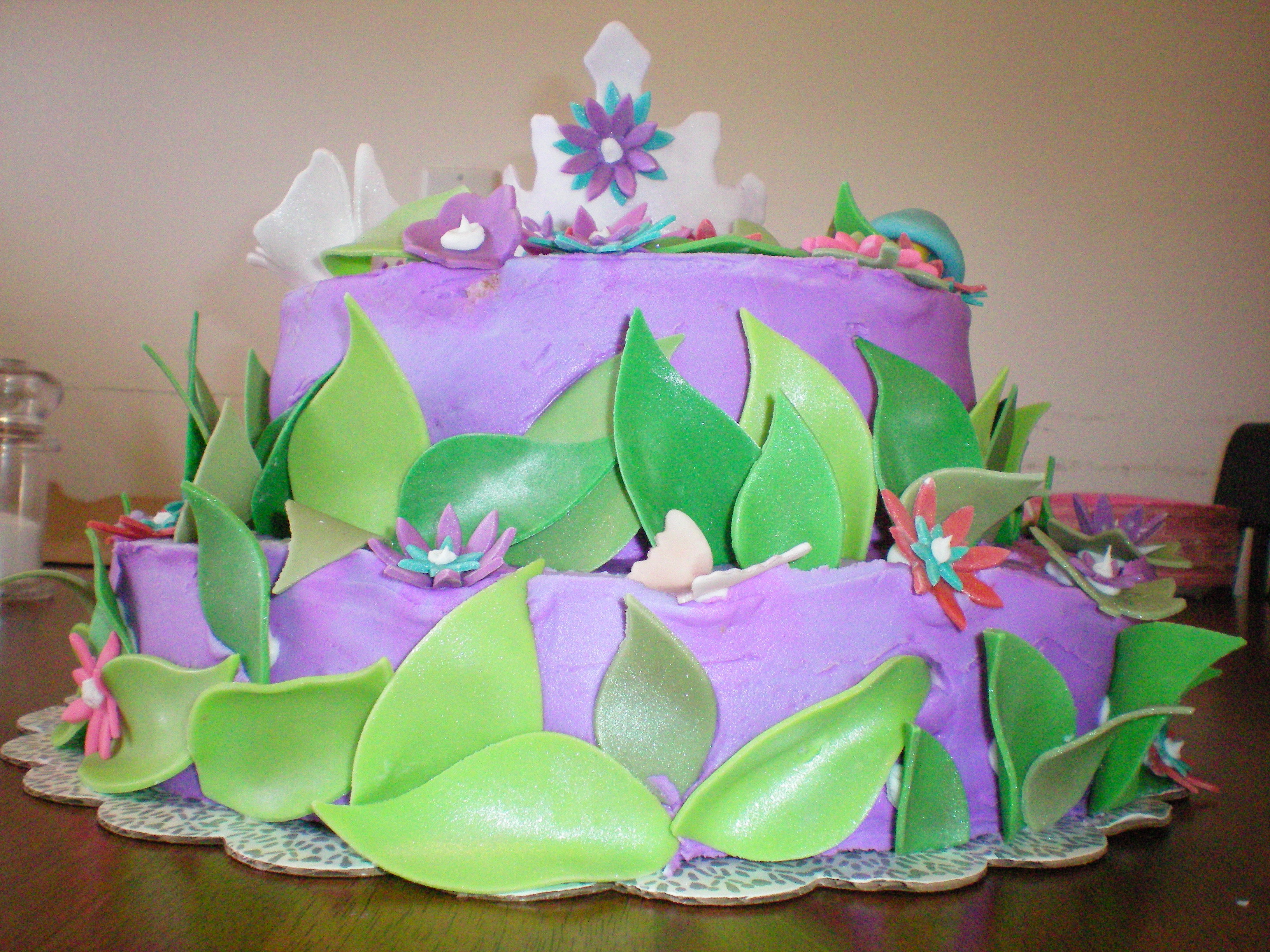 Cakes, pink, red, purple, blue, green, cake, Dolled-up cakes by lissette