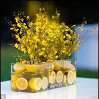 Flowers & Decor, yellow, Centerpieces, Flowers, Centerpiece, Fruit