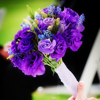 Flowers & Decor, white, purple, Bride Bouquets, Flowers, Flower, Bouquet, Bridal
