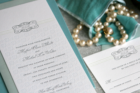 Stationery, white, blue, green, invitation, Vintage, Modern, Classic, Classic Wedding Invitations, Modern Wedding Invitations, Vintage Wedding Invitations, Invitations, Grey, Elegant, Tall, Traditional, Letterpress, Press, Letter, Cotton, Delphine, Celadon, Gris, Kent