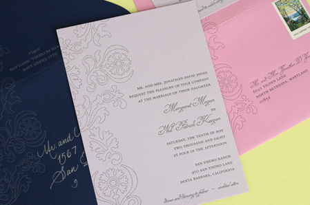 Inspiration, Stationery, pink, purple, blue, silver, invitation, Invitations, Board, Letterpress, Color, Navy, Press, Letter, Violet, Cotton, Delphine, Amelie, Violette, Violett