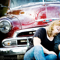 Engagement, April smith photography, Classic car