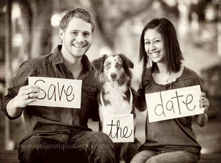 Stationery, Invitations, Save-the-Dates, Save the date, Engagement, April smith photography