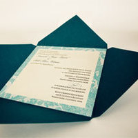 Stationery, white, blue, brown, black, silver, Invitations, Creative designs by mimi