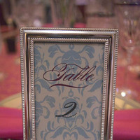 Stationery, white, pink, blue, silver, Invitations, Table Numbers, Creative designs by mimi