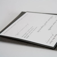 Stationery, white, black, silver, Invitations, Creative designs by mimi