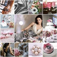 Inspiration, Flowers & Decor, pink, silver, Bridesmaid Bouquets, Centerpieces, Flowers, Centerpiece, Bridesmaid, Board, Cocktails, Blush, Pewter