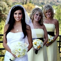 Beauty, Flowers & Decor, Bridesmaids, Bridesmaids Dresses, Wedding Dresses, Fashion, white, yellow, dress, Makeup, Bride Bouquets, Bridesmaid Bouquets, Bride, Flowers, Hair, Dresses, With, Her, Jennifer bagwell photography, Flower Wedding Dresses