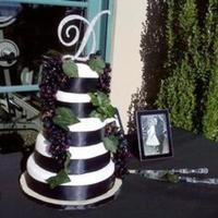 white, purple, green, black, Fondant, Sash, Grapes, Dolled-up cakes by lissette