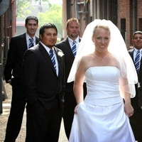 Beauty, Wedding Dresses, Fashion, white, blue, black, dress, Groomsmen, Bride, Hair, With, Jennifer bagwell photography