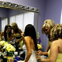 Beauty, Flowers & Decor, Bridesmaids, Bridesmaids Dresses, Wedding Dresses, Fashion, white, yellow, purple, black, dress, Makeup, Bride Bouquets, Bridesmaid Bouquets, Bride, Flowers, Hair, Dresses, Getting, Ready, Get, Helping, Jennifer bagwell photography, Flower Wedding Dresses