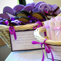 Favors & Gifts, purple, Favors, Activity books, Flip flop basket