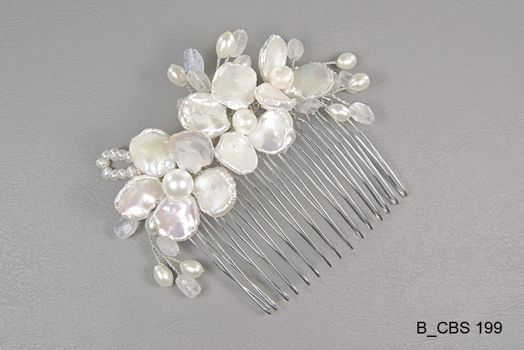 Beauty, Flowers & Decor, Jewelry, Bridesmaids, Bridesmaids Dresses, Fashion, white, ivory, silver, Comb, Flower, Hair, Pearls, Water, Accessory, Fresh, Beads, Wire, Jane tran design