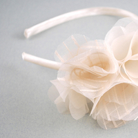 Beauty, Flowers & Decor, Jewelry, Bridesmaids, Bridesmaids Dresses, Fashion, ivory, Headbands, Bride Bouquets, Bridesmaid Bouquets, Bride, Flowers, Flower, Girl, Hair, Bridal, Cream, Headband, Material, Jane tran design, Flower Wedding Dresses