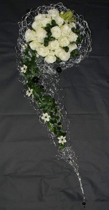 Flowers & Decor, white, green, black, silver, Flowers, The flower company