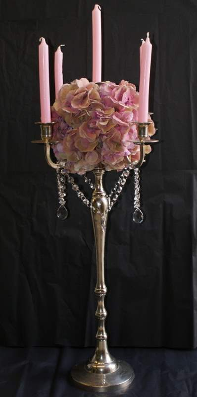 Reception, Flowers & Decor, pink, silver, Centerpieces, Flowers, Centerpiece, Candelabra, The flower company
