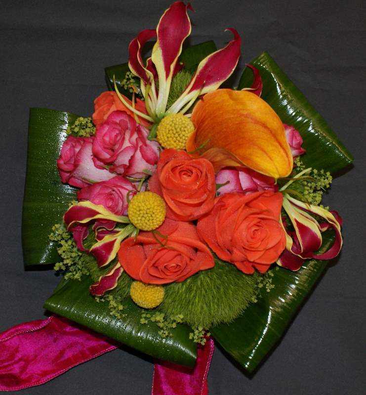 yellow, orange, red, green, Bouquet, The flower company