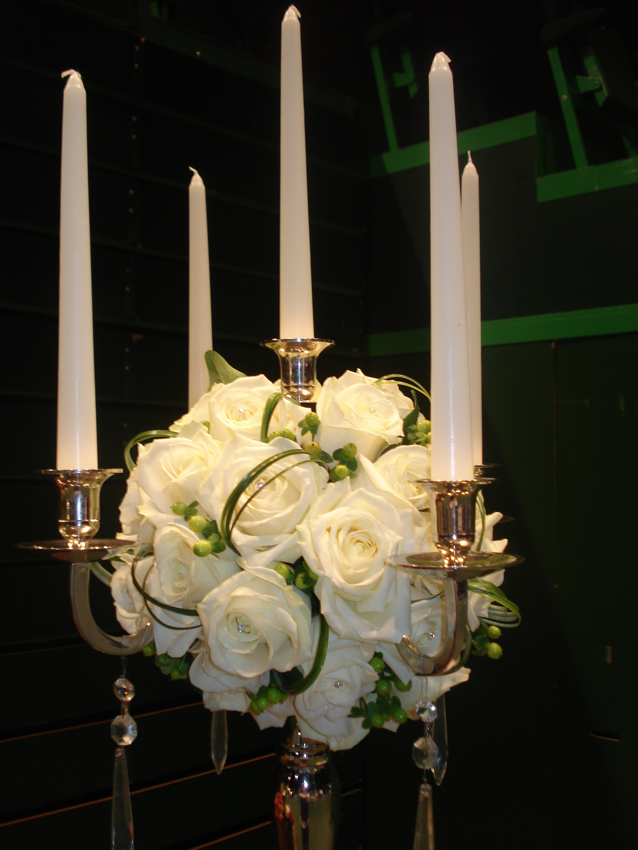 Reception, Flowers & Decor, white, green, silver, The flower company