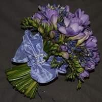 Flowers & Decor, Bridesmaids, Bridesmaids Dresses, Fashion, purple, blue, Bride Bouquets, Bridesmaid Bouquets, Flowers, Bouquet, The flower company, Flower Wedding Dresses