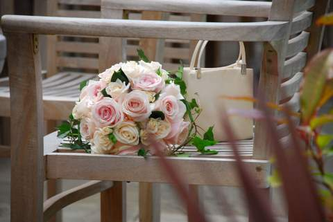 Bridesmaids, Bridesmaids Dresses, Fashion, white, pink, The flower company