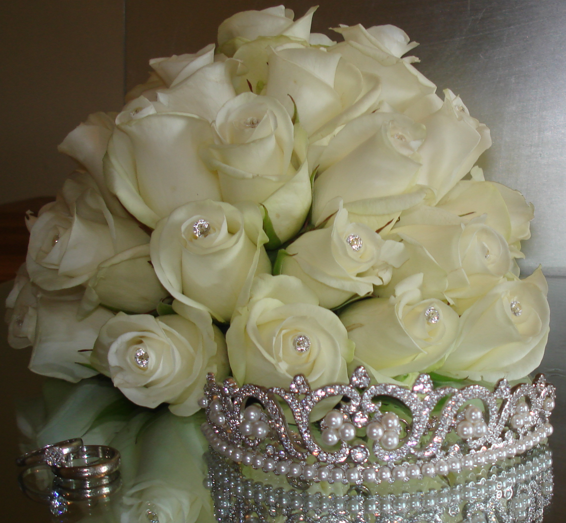 Reception, Flowers & Decor, white, silver, Flowers, The flower company