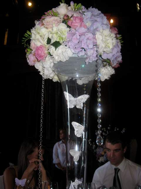 Reception, Flowers & Decor, white, pink, purple, Centerpieces, Flowers, Centerpiece, The flower company