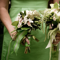 Flowers & Decor, Bridesmaids, Bridesmaids Dresses, Fashion, white, yellow, green, Bridesmaid Bouquets, Flowers, Emma freeman photography, Flower Wedding Dresses
