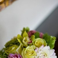 white, pink, green, Centerpiece, Flower and paper