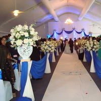 Ceremony, Flowers & Decor, white, blue, Ceremony Flowers, Flowers, Linda smith weddings
