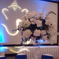 Reception, Flowers & Decor, white, blue, silver, Flowers, Linda smith weddings