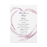 Stationery, pink, invitation, Invitations, Wedding invitation, Contemporary, Heart, Abstract, A wedding collection by lora severson photography, Fractal