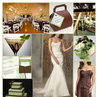 Inspiration, Reception, Flowers & Decor, Wedding Dresses, Stationery, Cakes, Fashion, green, brown, cake, dress, Invitations, Flowers, Jim hjelm, Board, Js boutique, Flower Wedding Dresses