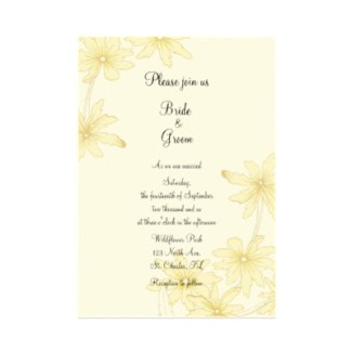 Flowers & Decor, Stationery, yellow, Invitations, Flower, Floral, Wedding invitation, Daisies, A wedding collection by lora severson photography, Floral wedding, Daisy wedding, Yellow daisy