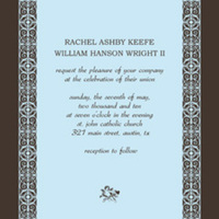 Stationery, blue, brown, silver, Invitations, Design betty - free wedding invitation templates