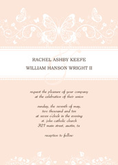 Stationery, pink, invitation, Announcements, Invitations, Wedding, Announcement, Templates, Design betty - free wedding invitation templates