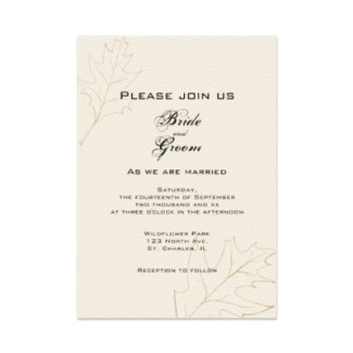 Stationery, brown, invitation, Fall, Invitations, Wedding invitation, Autumn, Fall wedding, Seasonal, Fall leaves, Autumn leaves, Autumn wedding, A wedding collection by lora severson photography, Oak leaves