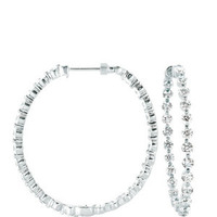 Jewelry, Earring, Diamonds, Diamond earrings, Diamond hoops