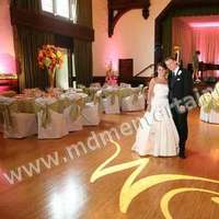 Reception, Flowers & Decor, pink, Lighting, Monogram, Wedding, Up, Dj, Gobo, Lights, Chicago, Uplighting, Mdm entertainment