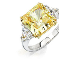 Jewelry, Engagement Rings, Ring, Desires by mikolay, Yellow diamond engagement ring, Yellow diamond