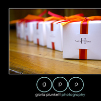 Reception, Flowers & Decor, Favors & Gifts, white, orange, pink, Favors, Gifts, Ribbon, Box, Bow, Gloria plunkett photography