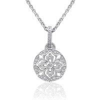 Jewelry, Diamond necklace, White gold pendant, White gold necklace, Scott colee