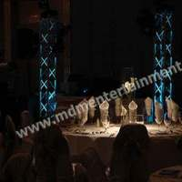 Reception, Flowers & Decor, white, blue, Lighting, Wedding, Table, Up, Dj, Chicago, Light, Uplights, Pin, Spots, Truss, Spotting, Mdm entertainment